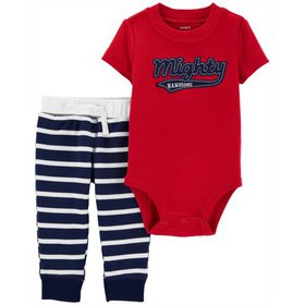 Carters Baby Boys Striped Mighty Handsome Bodysuit