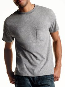 Men's ComfortSoft Assorted Colors Tagless Pocket T