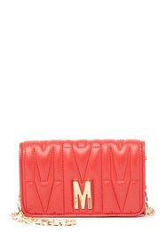 MOSCHINO Mini Leather Quilted Crossbody