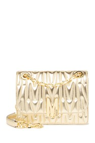 MOSCHINO Quilted Chain-Link Leather Crossbody