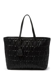 MOSCHINO Quilted Embossed Tote