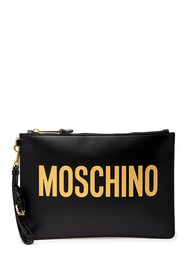 MOSCHINO Logo Leather Wallet