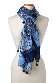 Lands End Women's Patchwork Scarf