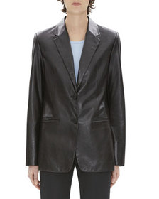 Helmut Lang Two-Button Calf Leather Blazer