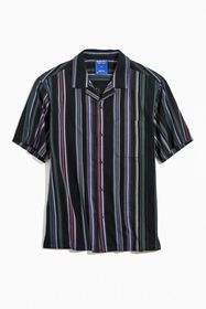 Without Walls Patterned Stripe Short Sleeve Button