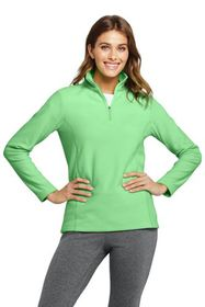 Lands End Women's Quarter Zip Fleece Pullover