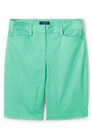 "Lands End Women's Mid Rise 10"" Chino Bermuda Short"