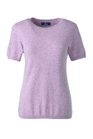 Lands End Women's Short Sleeve Cashmere Sweater