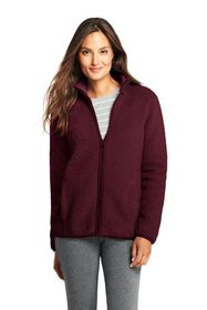 Lands End Women's Petite Cozy Sherpa Fleece Jacket