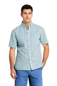 Lands End Men's Traditional Fit Short Sleeve Seers