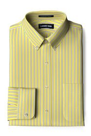 Lands End Men's Tailored Fit Pattern Supima No Iro