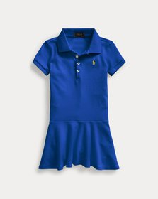 Ralph Lauren Stretch Cotton Mesh Polo Dress