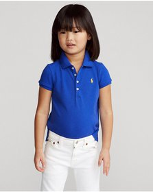 Ralph Lauren Stretch Cotton Mesh Polo Shirt