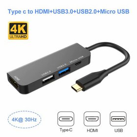 USB C Hub,4 in 1 Type C Hub to HDMI 4k USB Type C