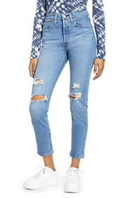 Levi's® 501 High Waist Ripped Ankle Skinny Jeans (