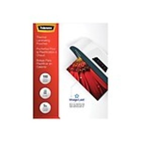 Fellowes ImageLast Thermal Pouches, Letter, 100/Pa