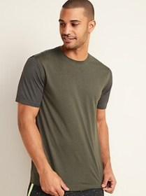 Go-Dry Cool Odor-Control Color-Blocked Core Tee fo