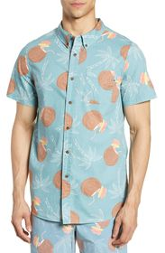 PARTY PANTS Coconut Drink Print Short Sleeve Hawai