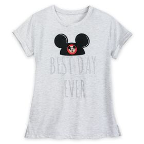 Disney Mickey Mouse Best Day Ever T-Shirt for Wome