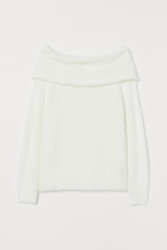H&M+ Off-the-shoulder Sweater