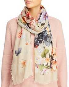 Echo - Enchanting Floral Print Oblong Scarf