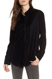 Treasure & Bond Velvet Boyfriend Shirt