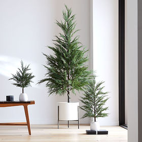 Crate Barrel Faux Potted Cypress Tree 33""