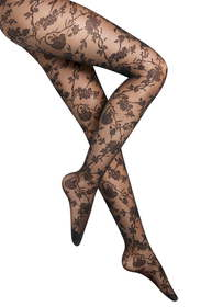 Wolford Marie Floral Sheer Tights