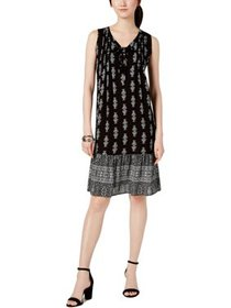 NY Collection Womens Petites Paisley Sleeveless Fl