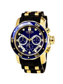 Invicta Men's Pro Diver 6983 Gold Rubber Swiss Chr