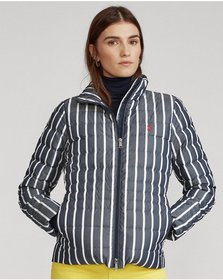 Ralph Lauren Striped Packable Down Jacket