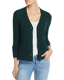 AQUA - V-Neck Cashmere Cardigan - 100% Exclusive