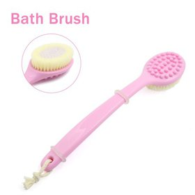"""13.4"""" Pink Long Handle Bath Brush for Shower The B"""