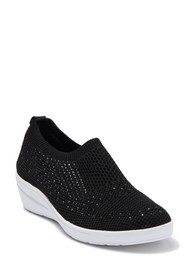 Anne Klein Yearly Perforated Wedge Sneaker