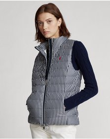 Ralph Lauren Striped Packable Down Vest