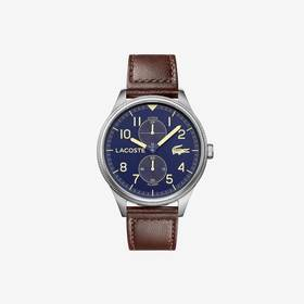 Lacoste Men's Continental With Brown Leather Strap
