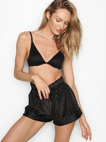 Victoria Secret Glitter Velvet High-waist Short
