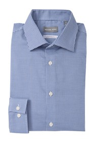 Michael Kors Regular Fit Gingham Dress Shirt