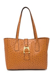 Dooney & Bourke Ostrich Embossed Leather Small Sha