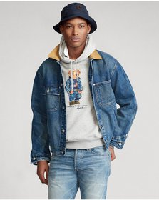 Ralph Lauren Denim Bear Fleece Hoodie