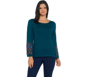 """As Is"" Linea by Louis Dell'Olio Knit Sweater with"