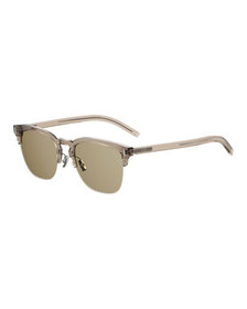 Dior Men's Fraction 6 Half-Rim Sunglasses