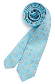 Michael Kors Medallion Silk Tie (Boys)