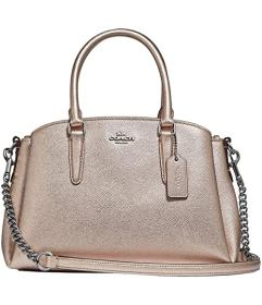 COACH Metallic Cross Grain Mini Sage Carryall