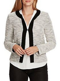 Vince Camuto Cotton-Blend Cardigan PEARL IVORY