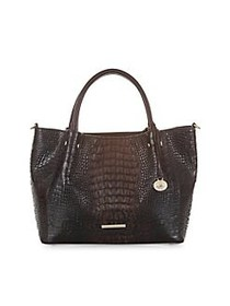 Brahmin Sparrow Small Mallory Embossed Leather Tot