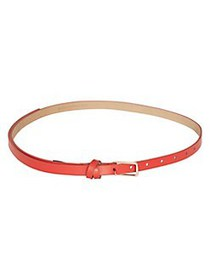 BCBGMAXAZRIA Leather Skinny Tie Belt DARK CORAL