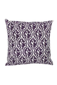 ENTRYWAYS Aubergine Patterned Throw Pillow - 20\