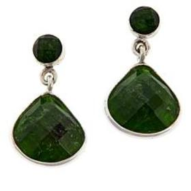 Jay King Sterling Silver Chrome Diopside Drop Earr