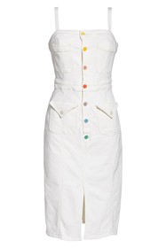 MOTHER To the Point Button Front Denim Dress